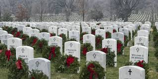 Arlington Cemetary at Christmas